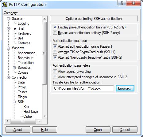 putty加载ssh key