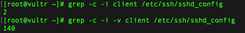 grep -v 参数示例