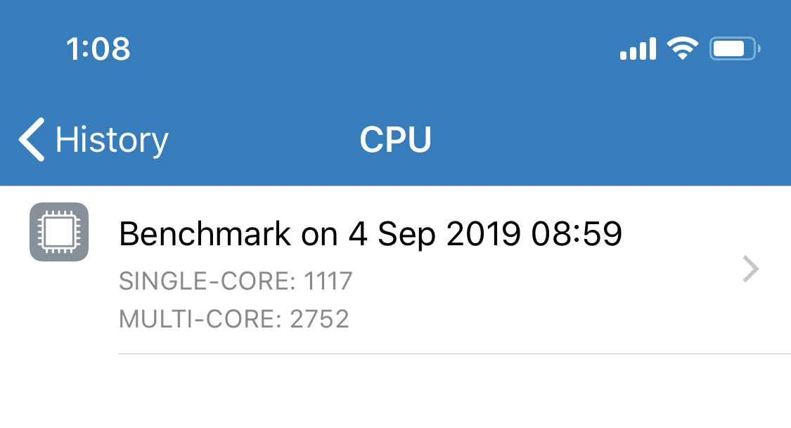 iphonexs geekbench5 results 测试结果