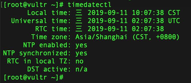 timedatectl命令