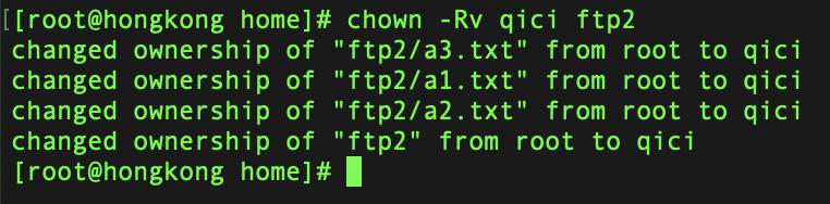 chown 命令常见用法