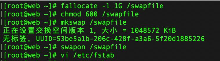swap 分区创建过程